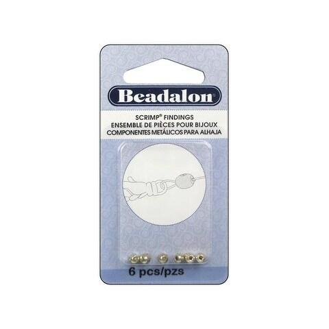 Beadalon Memory Wire Scrimp End Silver Plate 6pc