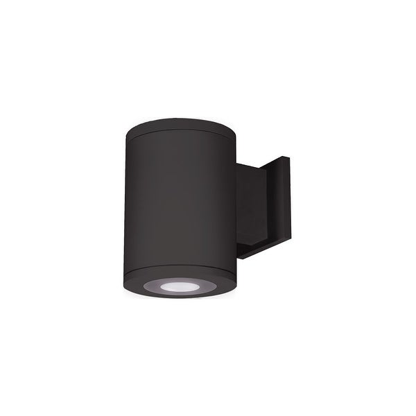 """WAC Lighting DS-WS06-U Tube Architectural 6""""W LED Outdoor Wall Sconce with Ultra Narrow Beam & Towards the Wall Light Direction"""