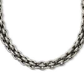 Stainless Steel Oval Link 18in Necklace (7 mm) - 18 in