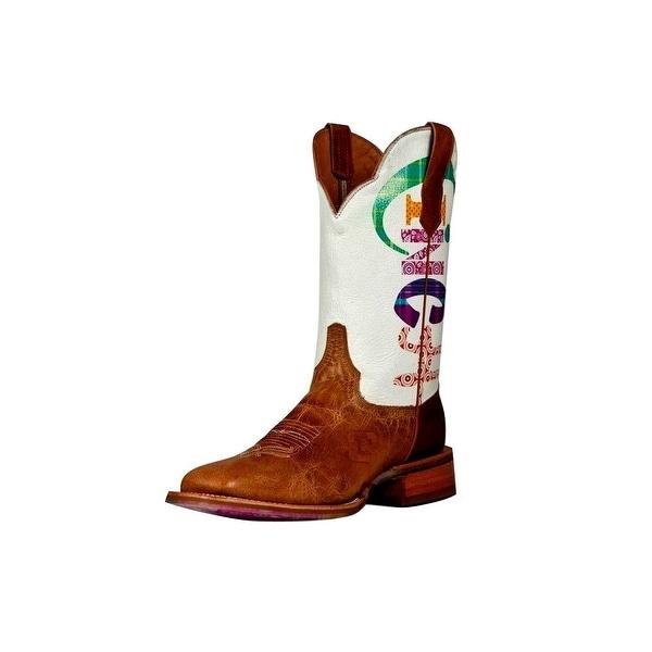 Cinch Western Boots Womens Cowboy Edge Logo Antique Bison