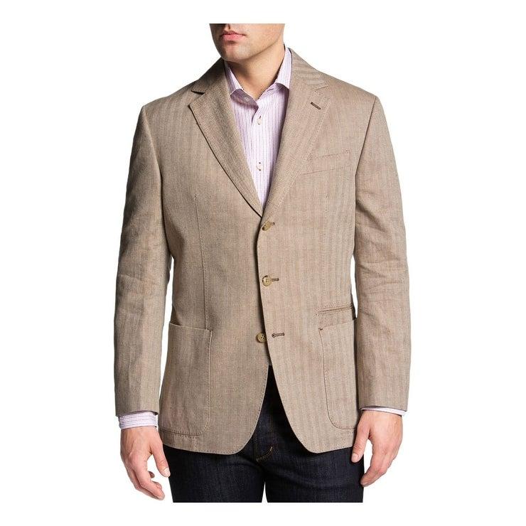 e625f8e264a Gianni Uomo Men s Black 3 Button Sport Coat Jacket