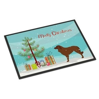 Carolines Treasures BB2949MAT Portuguese Sheepdog Dog Merry Christmas Tree Indoor or Outdoor Mat 18x27