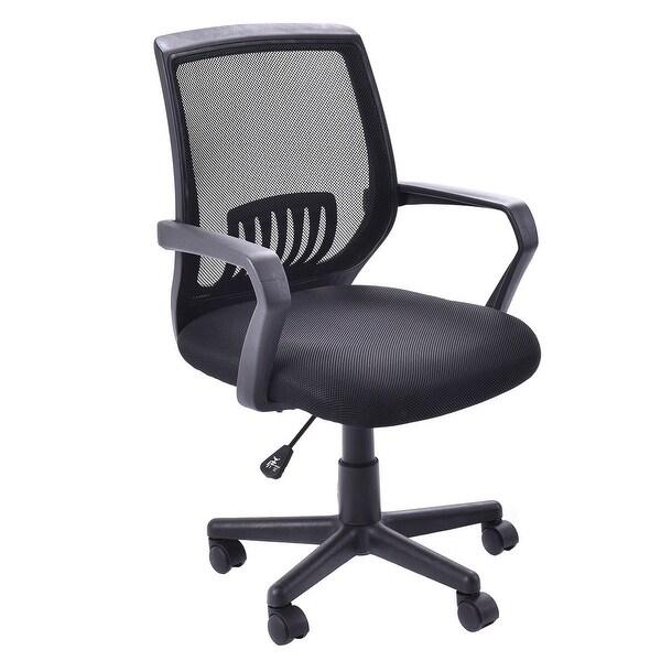 shop costway modern ergonomic mid back mesh computer office chair