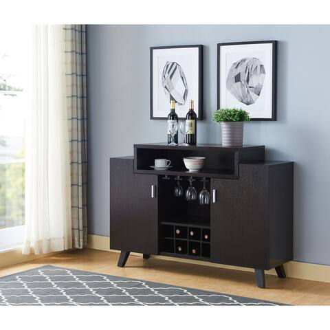 Furniture of America Hafley Contemporary 2 Open Shelves Buffet