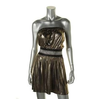 Hotsauce Style Womens Metallic Strapless Clubwear Dress - S