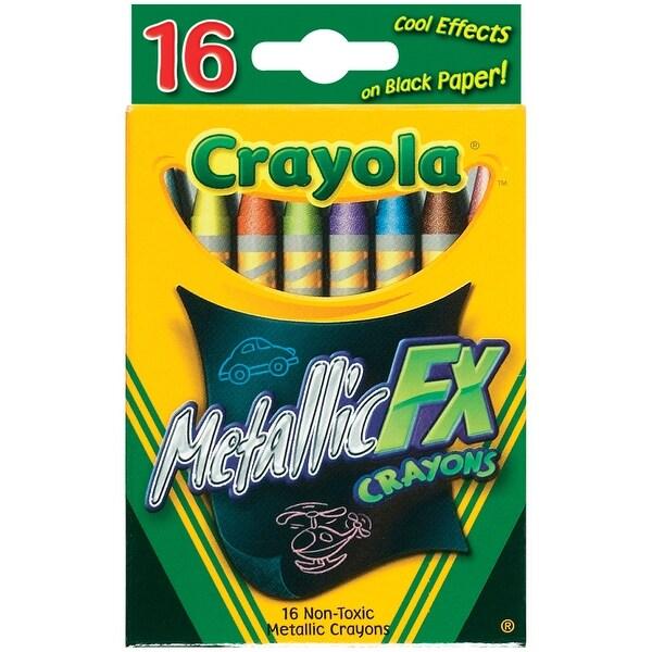 Crayola Metallic FX Crayons-16/Pkg