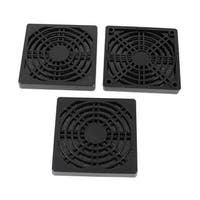 Unique Bargains 3pcs Black Plastic Dustproof Filter 85mm PC Computer Case Fan Dust Guard Mesh