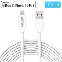 Skiva USBLink Extra Long (10 feet / 3m) 8-pin Lightning Sync and Charge Apple MFi Certified Cable for iPhone X 8 8Plus 7 6s Plus