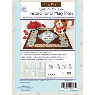 June Tailor JT1443 Dog Days -Quilt As You Go Mats, 8.5 x 10.5 in.