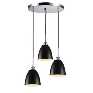 Woodbridge Lighting 15324 3 Light Full Sized Multi Light Pendant with Metal Shades from the Vento Collection