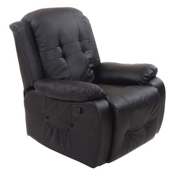 Shop Costway Ergonomic Tufted Recliner Massage Sofa Chair