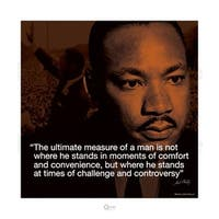 ''Martin Luther King Jr.: Ultimate Measure of a Man'' by Anon African American Art Print (15.75 x 15.75 in.)