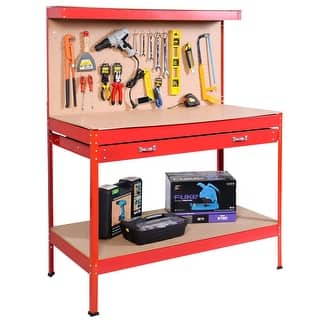 Costway Work Bench Tool Storage Steel Tool Workshop Table W/ Drawer and Peg Board Red|https://ak1.ostkcdn.com/images/products/is/images/direct/b0e016f903300833232111f48bcfd77a3f8e32e2/Costway-Work-Bench-Tool-Storage-Steel-Tool-Workshop-Table-W--Drawer-and-Peg-Board-Red.jpg?impolicy=medium