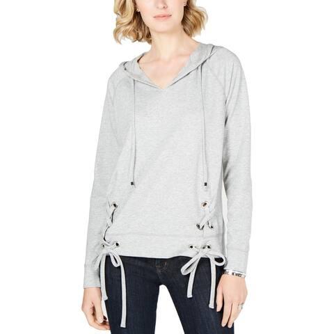 MICHAEL Michael Kors Womens Hoodie Lace-Up Grommet