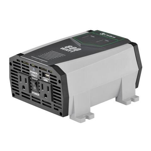 Cobra CPI 890 800W 12V DC to 120V AC Compact Power Inverter 2.1A USB port Manufacturer Refurbished