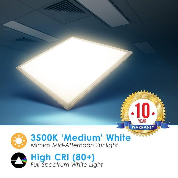 4 PACK 2 x 2 LED Panel Light 40W 4000K White Drop Ceiling Retrofit Recessed UL