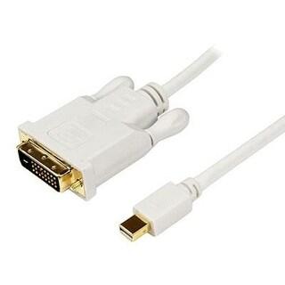 Startech Mdp2dvimm6w 6 Feet Mini Displayport To Dvi Adapter Cable - Mini Dp To Dvi Video Converter - Mdp To Dvi Cabl