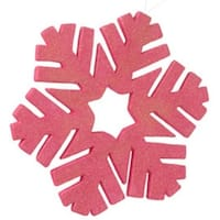 "12"" Oversized Pink Glitter Snowflake Christmas Ornament"