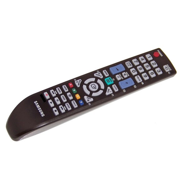 OEM Samsung Remote Originally Shipped With: PS-51D550C1N, PS43D490A1W, PS-43D490A1W, PS51D550C1M, PS-51D550C1M