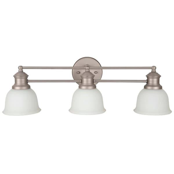 "Jeremiah Lighting 198223-WG Light Rail 3 Light Bathroom Vanity Light - 26"" Wide"