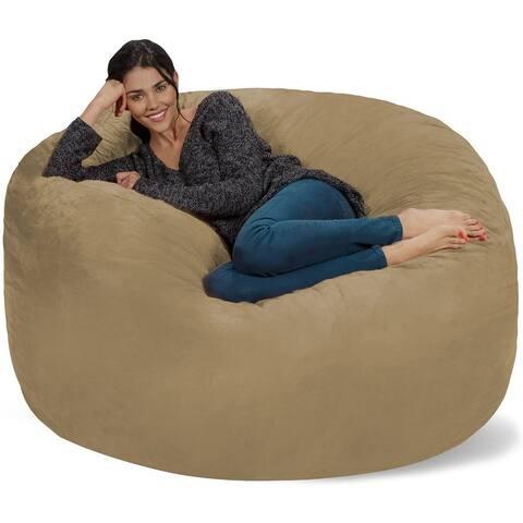 Bean Bag Chair 5-foot Memory Foam Removable Cover Bean Bags