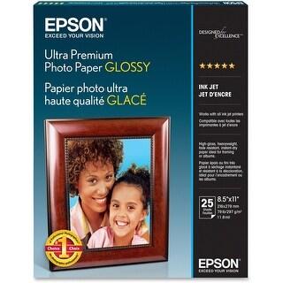 Epson Ultra Premium Photo Paper Glossy, Letter, 8.5 x 11, 25 Sheets (S042182) - White