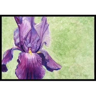 Carolines Treasures TMTR0234JMAT Purple Iris by Malenda Trick Indoor or Outdoor Mat 24 x 36
