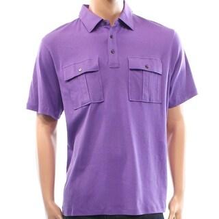 Michael Kors NEW Purple Mens Size Small S Double-Pocket Polo Shirt