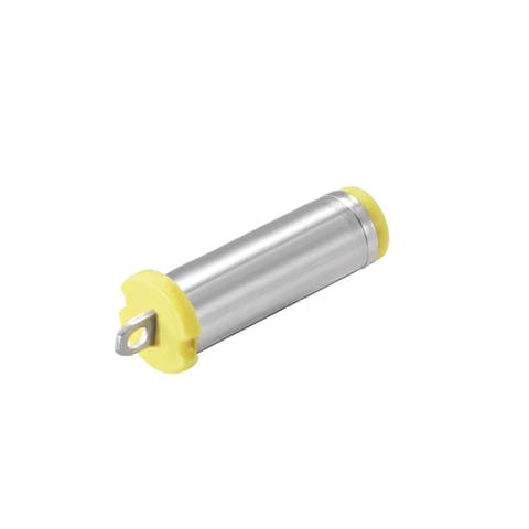 DC Male Connector 5.5mm x 2.1mm Power Jack Solder Adapter Yellow 100Pcs