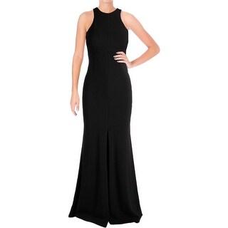 Vera Wang Womens Evening Dress Jersey Cut-Out