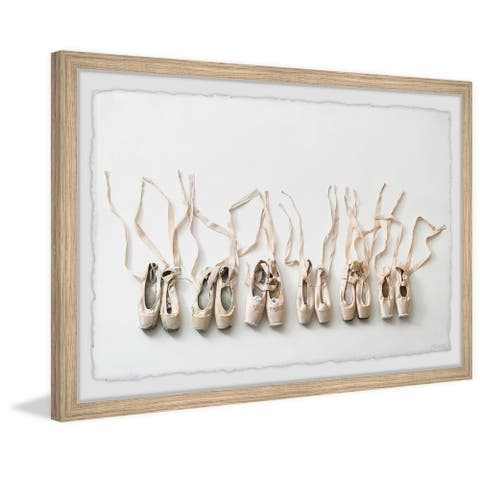 'Ballerina Shoes' Framed Painting Print