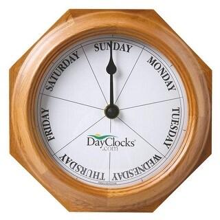 DayClocks Clock - Track Days of the Week - In Mahogany or Oak