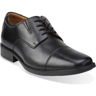 Clarks Men's Tilden Cap Toe Oxford Black Leather