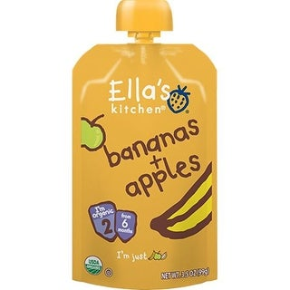 Ella's Kitchen  - Apples & Bananas Puree ( 12 - 3.5 OZ)