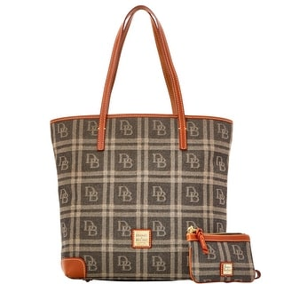 Dooney & Bourke DB Plaid Jacquard Everyday Tote with Wristlet (Introduced by Dooney & Bourke at $248 in Jul 2016) - Black