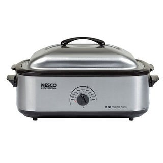 Nesco 4818-25PR 18 Qt Stainless Steel - Porcelain Cookwell