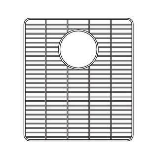 """Houzer 629703 Wirecraft 14-17/32""""L x 13""""W Stainless Steel Kitchen Sink Basin Rack - STAINLESS STEEL"""