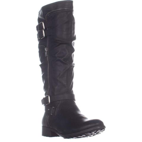 White Mountain Womens Remi Leather Closed Toe Mid-Calf Fashion Boots