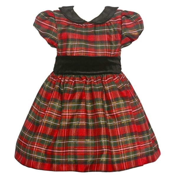 8875a5ceefc Shop Jayne Copeland Baby Girls Black Red Plaid Velvet Sash Christmas Dress  - Free Shipping On Orders Over  45 - Overstock - 18916368