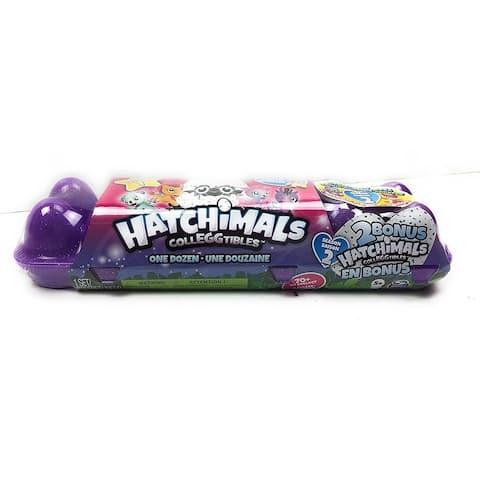 Hatchimals Colleggtibles 12 Pack Egg Carton Plus 2 Bonus Total 14 Eggs Pink - Pink/Purple