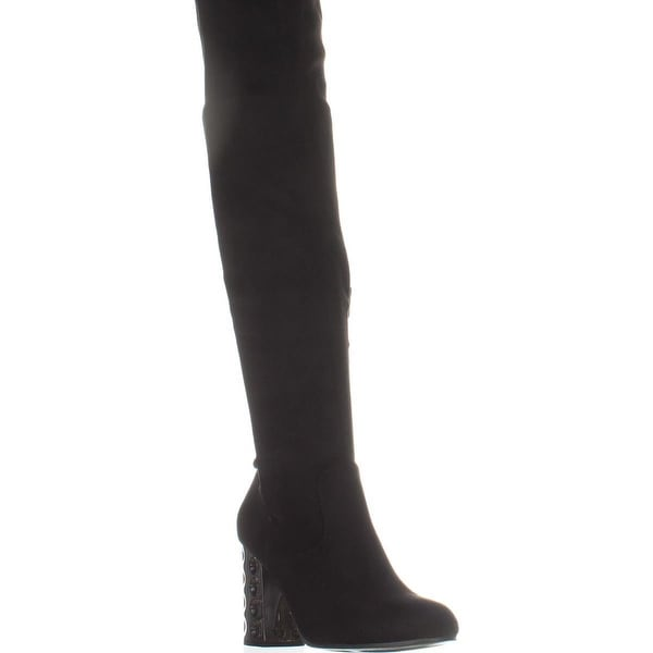 Carlos By Carlos Santana Quantum Wide Calf Over-The-Knee Boots, Black