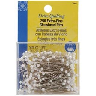 Size 22 250/Pkg - Dritz Quilting Extra Fine Glass Head Pins