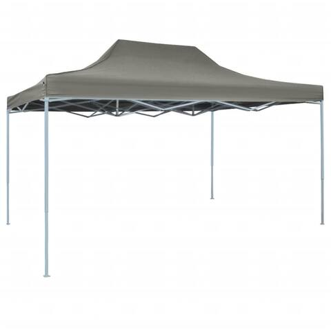 "vidaXL Foldable Tent Pop-Up 118.1""x177.2"" Anthracite"