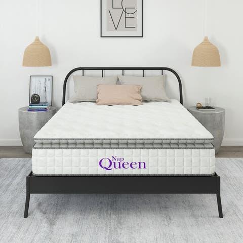 """Nap Queen Cashmere 12"""" Hybrid Pillow Top Mattress"""