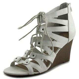 American Rag Acarter Women Open Toe Synthetic White Wedge Sandal
