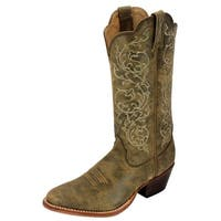 Twisted X Western Boots Womens Round Stitch Bomber Brown