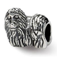 Sterling Silver Reflections Yorkshire Terrier Bead (4mm Diameter Hole)