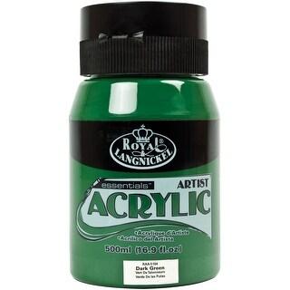 Essentials Acrylic Paint 16Oz/Jar-Dark Green