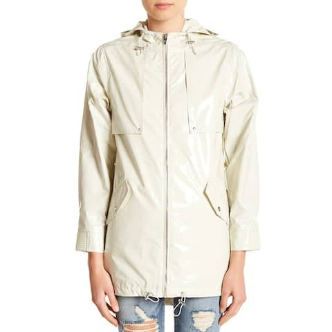Blanknyc Denim Patent Parka, White Chocolate, XS