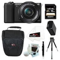 Sony Alpha a5100 ILCE5100L/B with 16-50mm Lens 24MP Mirrorless Interchangeable Lens Digital Camera (Black) 16GB Bundle